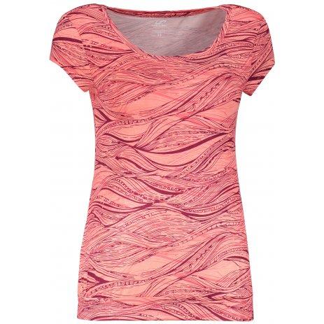 Dámské triko s krátkým rukávem HANNAH MOLVINA DESERT FLOWER/BEAUJOLAIS