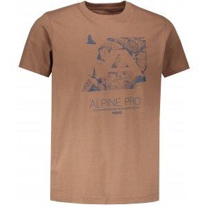 Pánské tričko s krátkým rukávem ALPINE PRO UNEG 6 MTSN354 HNĚDÁ