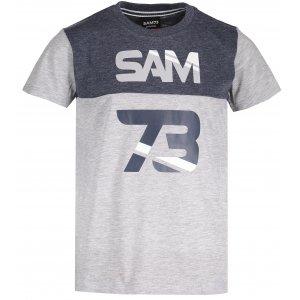 Chlapecké triko s krátkým rukávem SAM 73 BT 525 SVĚTLE ŠEDÁ