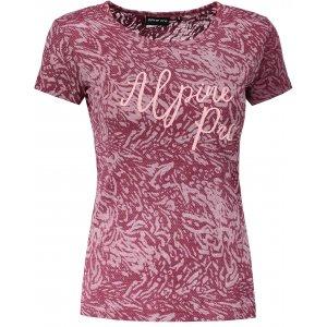 Dámské triko s krátkým rukávem ALPINE PRO KAJKA LTSN520 VÍNOVÉ