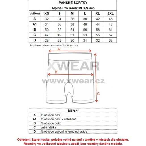 Pánské kraťasy ALPINE PRO KAEL 2 MPAN345 MODRÁ