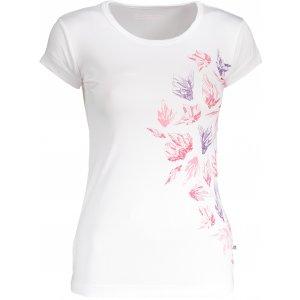 Dámské tričko s krátkým rukávem ALPINE PRO QUARTO 4 LTSN417 BÍLÁ POTISK