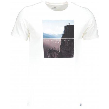 Pánské triko s krátkým rukávem HANNAH SCONTE BRIGHT WHITE/PRINT 2