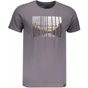 Pánské triko s krátkým rukávem HANNAH SCONTE STEEL GRAY