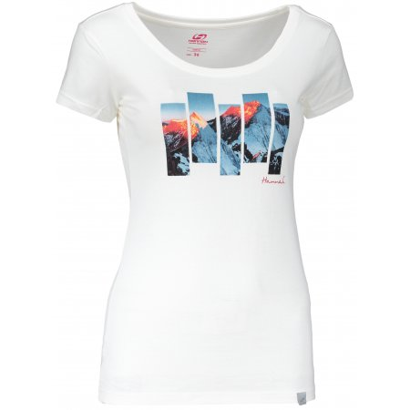 Dámské triko s krátkým rukávem HANNAH ARMELA BRIGHT WHITE