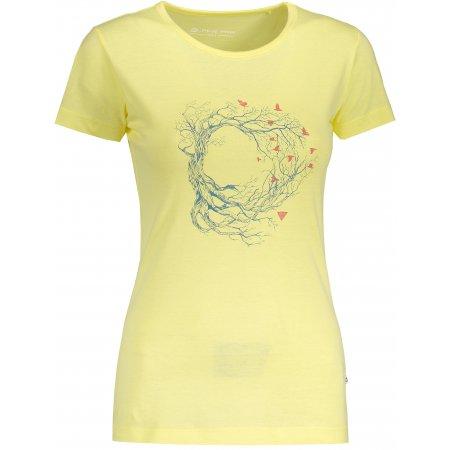 Dámské tričko s krátkým rukávem ALPINE PRO UNEGA 5 LTSN421 ŽLUTÁ