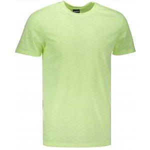 Pánské triko s krátkým rukávem SAM 73 MT 748 ŽLUTÝ NEON