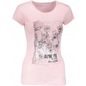 Dámské triko s krátkým rukávem ALPINE PRO PEFRA LTSN566 RŮŽOVÁ