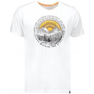 Pánské triko s krátkým rukávem ALPINE PRO RYKER 2 MTSN327 BÍLÁ