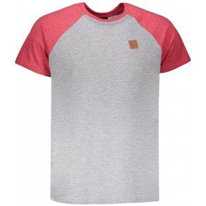 Pánské triko s krátkým rukávem SAM 73 MT 750 SVĚTLE ŠEDÁ