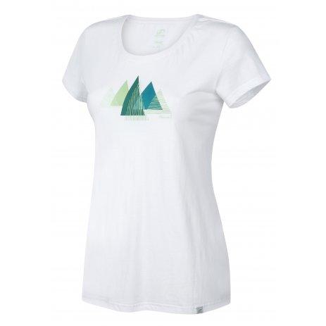 Dámské triko s krátkým rukávem HANNAH LAVINET BRIGHT WHITE/PRINT 1