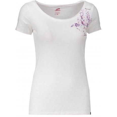 Dámské triko s krátkým rukávem HANNAH KARMELA BRIGHT WHITE