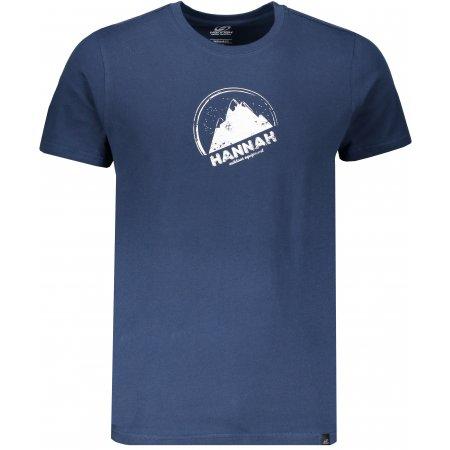 Pánské triko s krátkým rukávem HANNAH BORDON DARK DENIM/PRINT 1