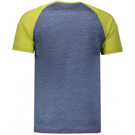 Pánské triko s krátkým rukávem HANNAH TARBEN DARK DENIM/LIME GREEN