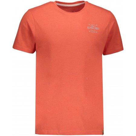 Pánské tričko s krátkým rukávem ALPINE PRO ALBERT MTSN374 ORANŽOVÁ