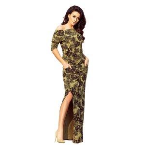 Dámské šaty NUMOCO A220-2 KHAKI
