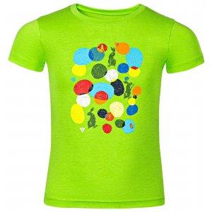 Dětské tričko s krátkým rukávem ALPINE PRO AXISO 3 KTSN154 ZELENÁ