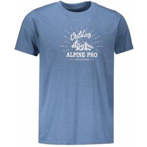 Pánské tričko s krátkým rukávem ALPINE PRO MARV 2 MTSN353 MODRÁ