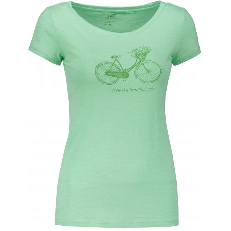 Dámské triko s krátkým rukávem HANNAH SALDIVA GREEN ASH