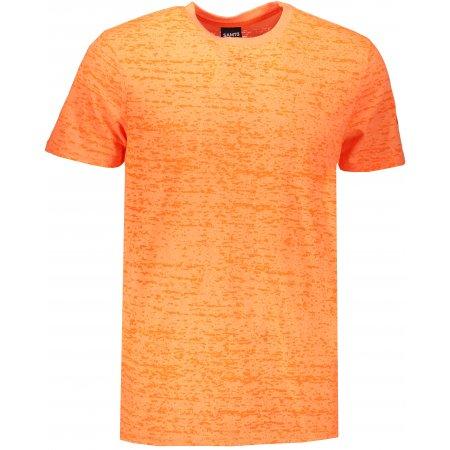 Pánské triko s krátkým rukávem SAM 73 MT 748 ORANŽOVÝ MELÍR NEON