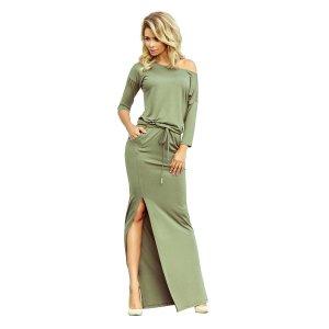 Dámské šaty NUMOCO A220-1 OLIVOVÁ