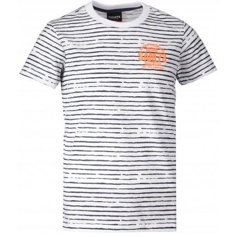 Chlapecké triko s krátkým rukávem SAM 73 BT 526 BÍLÁ