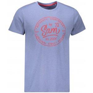 Pánské triko SAM 73 TELLUL MTSN390 SVĚTLE MODRÁ