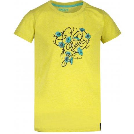 Dívčí triko SAM 73 CASTIO KTSN181 ZELENÁ
