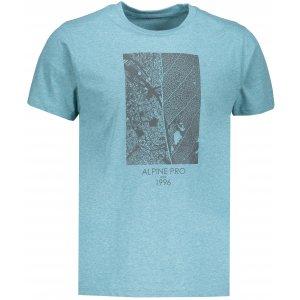 Pánské tričko s krátkým rukávem ALPINE PRO TIBERIO 7 MTSN364 ZELENÁ