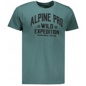 Pánské triko s krátkým rukávem ALPINE PRO TORX MTSN443 ZELENÁ