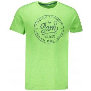 Pánské triko SAM 73 TELLUL MTSN390 SVĚTLE ZELENÁ