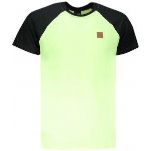 Pánské triko s krátkým rukávem SAM 73 MT 750 ŽLUTÝ NEON