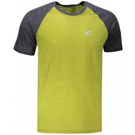 Pánské triko s krátkým rukávem HANNAH TARBEN LIME GREEN/DARK GRAY