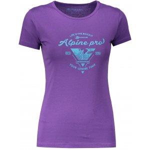 Dámské tričko s krátkým rukávem ALPINE PRO UNEGA 5 LTSN421 FIALOVÁ