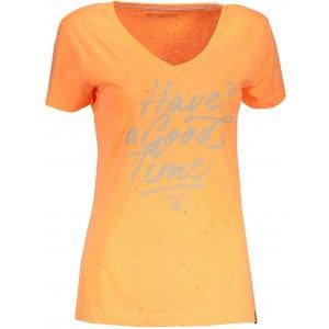 Dámské tričko s krátkým rukávem ALPINE PRO KERPA 3 LTSN447 ORANŽOVÁ