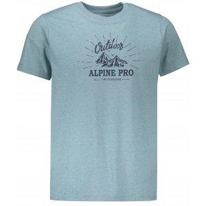Pánské tričko s krátkým rukávem ALPINE PRO MARV 2 MTSN353 ZELENÁ