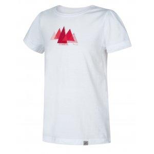 Dívčí triko s krátkým rukávem HANNAH PONTELA JR BRIGHT WHITE