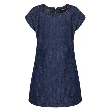 Dívčí šaty LOAP NELKA CLK1940 TMAVĚ MODRÁ