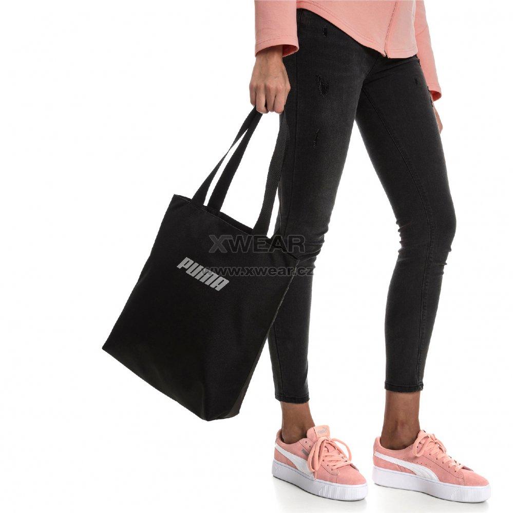 3953d1270f Dámská taška PUMA WMN CORE SHOPPER 07571101 BLACK velikost  14 l ...