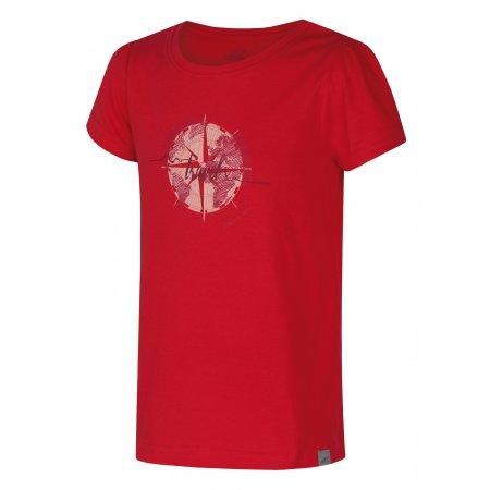 Dívčí triko s krátkým rukávem HANNAH PONTELA JR ROUGE RED