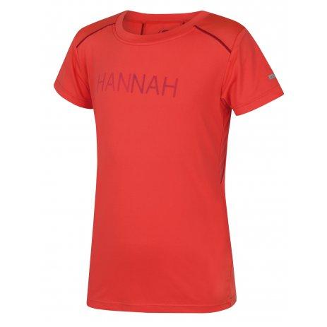 Dívčí funkční triko s krátkým rukávem HANNAH TULMA JR HOT CORAL