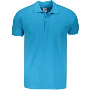 Pánské triko s límečkem FRUIT OF THE LOOM PREMIUM POLO AZURE BLUE