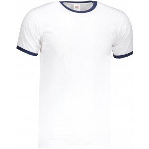 Pánské triko FRUIT OF THE LOOM VALUEWEIGHT RINGER T WHITE/NAVY