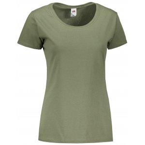 Dámské tričko FRUIT OF THE LOOM ORIGINAL CLASSIC OLIVE
