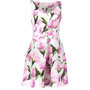 Dámské šaty NUMOCO A160-4 RŮŽOVÉ TULIPÁNY