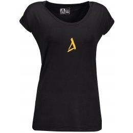 Dámské triko s krátkým rukávem ALTISPORT SAMBA ČERNÁ