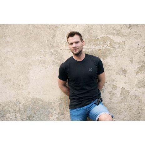 Pánské triko s krátkým rukávem ALTISPORT AMBATRY ČERNÁ/ŠEDÁ