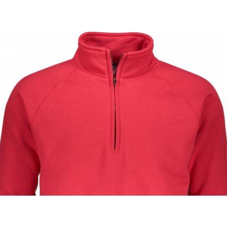 Pánská mikina FRUIT OF THE LOOM PREMIUM ZIP NECK SWEAT RED