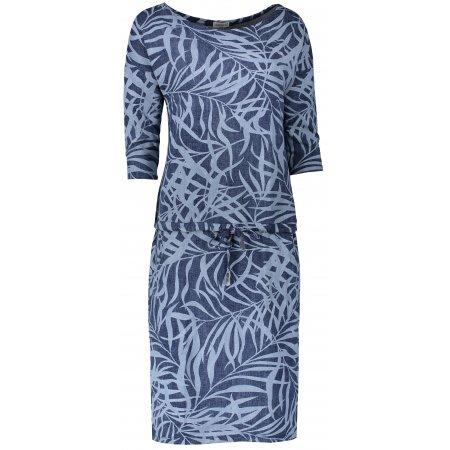 Dámské šaty NUMOCO A13-87 MODRÉ LISTY