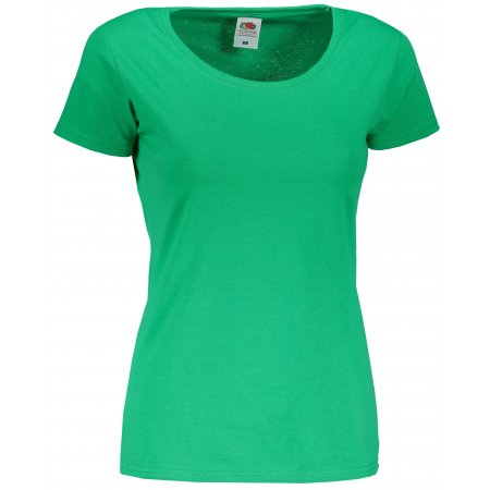 Dámské tričko FRUIT OF THE LOOM LADY FIT KELLY GREEN